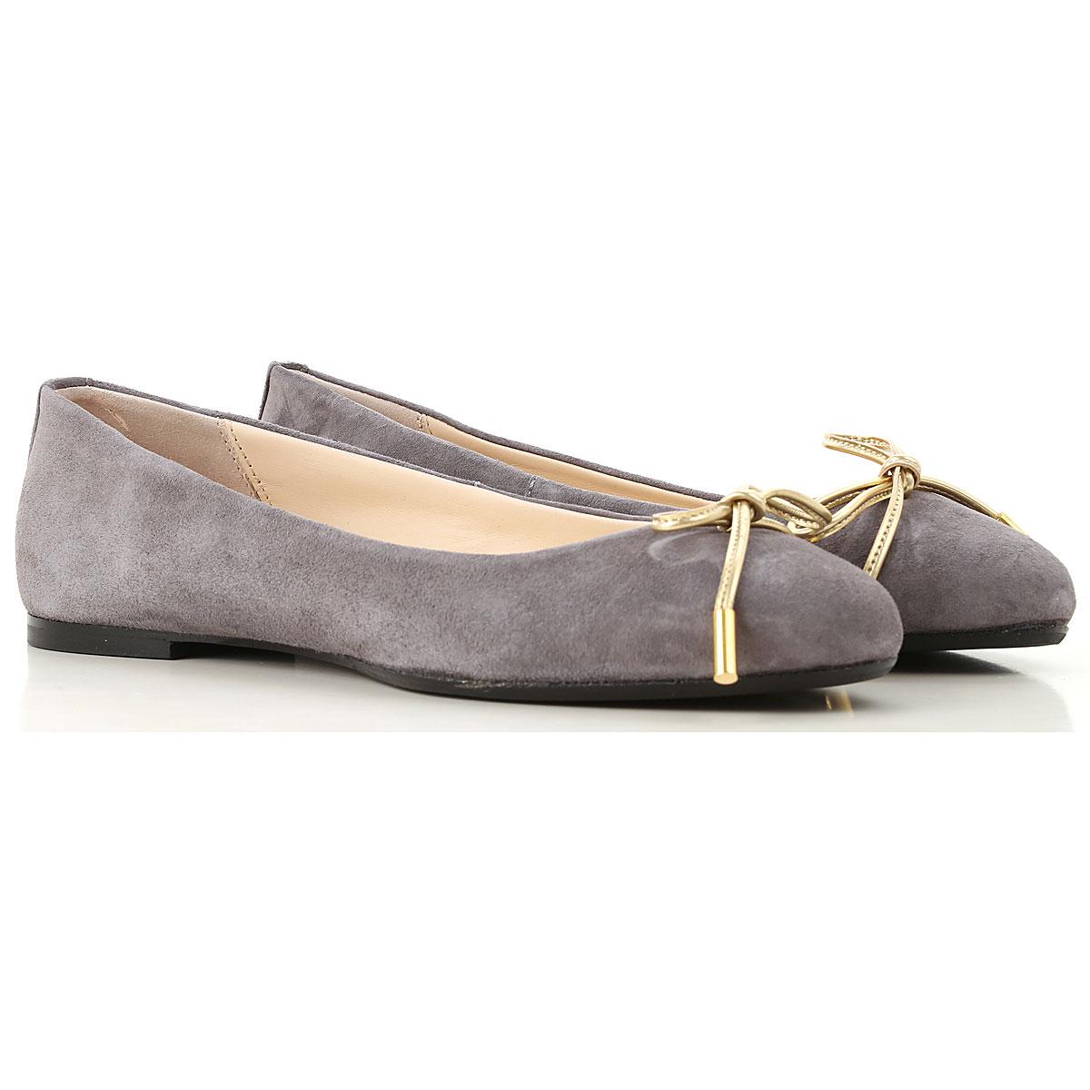 Image of Anna Baiguera Ballet Flats Ballerina Shoes for Women, Mouse Grey, suede, 2017, 10 11 5 7 8