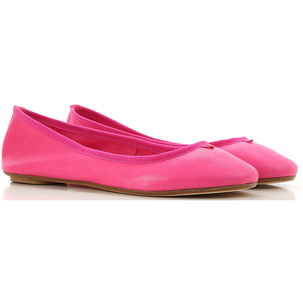 Anna Baiguera Ballet Flats Ballerina Shoes for Women On Sale in Outlet, fuxia, Leather, 2019, 10 7 8 9