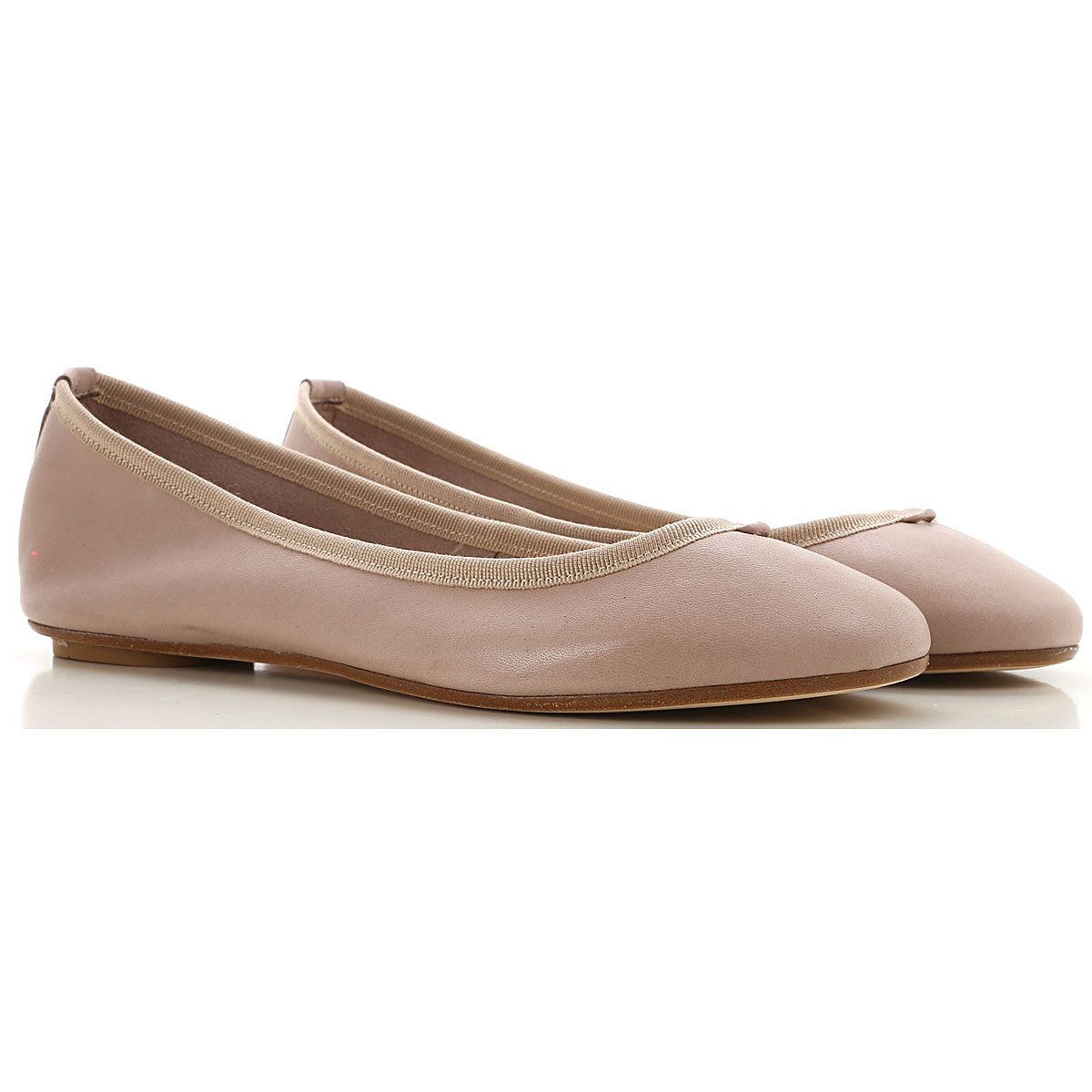 Anna Baiguera Ballet Flats Ballerina Shoes for Women On Sale, Natur, Leather, 2019, 6 8 9