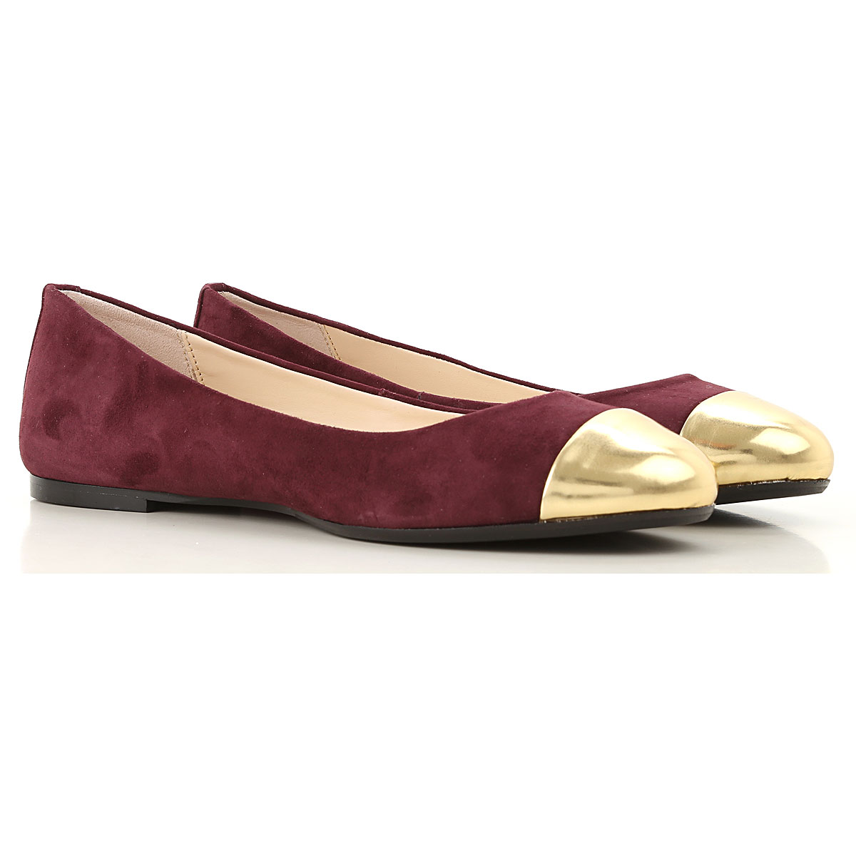 Image of Anna Baiguera Ballet Flats Ballerina Shoes for Women, Burgundy, suede, 2017, 10 11 5 7 8