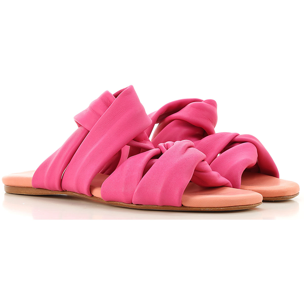 Anna Baiguera Sandals for Women On Sale in Outlet, Fuchsia, Leather, 2019, 11 6 7