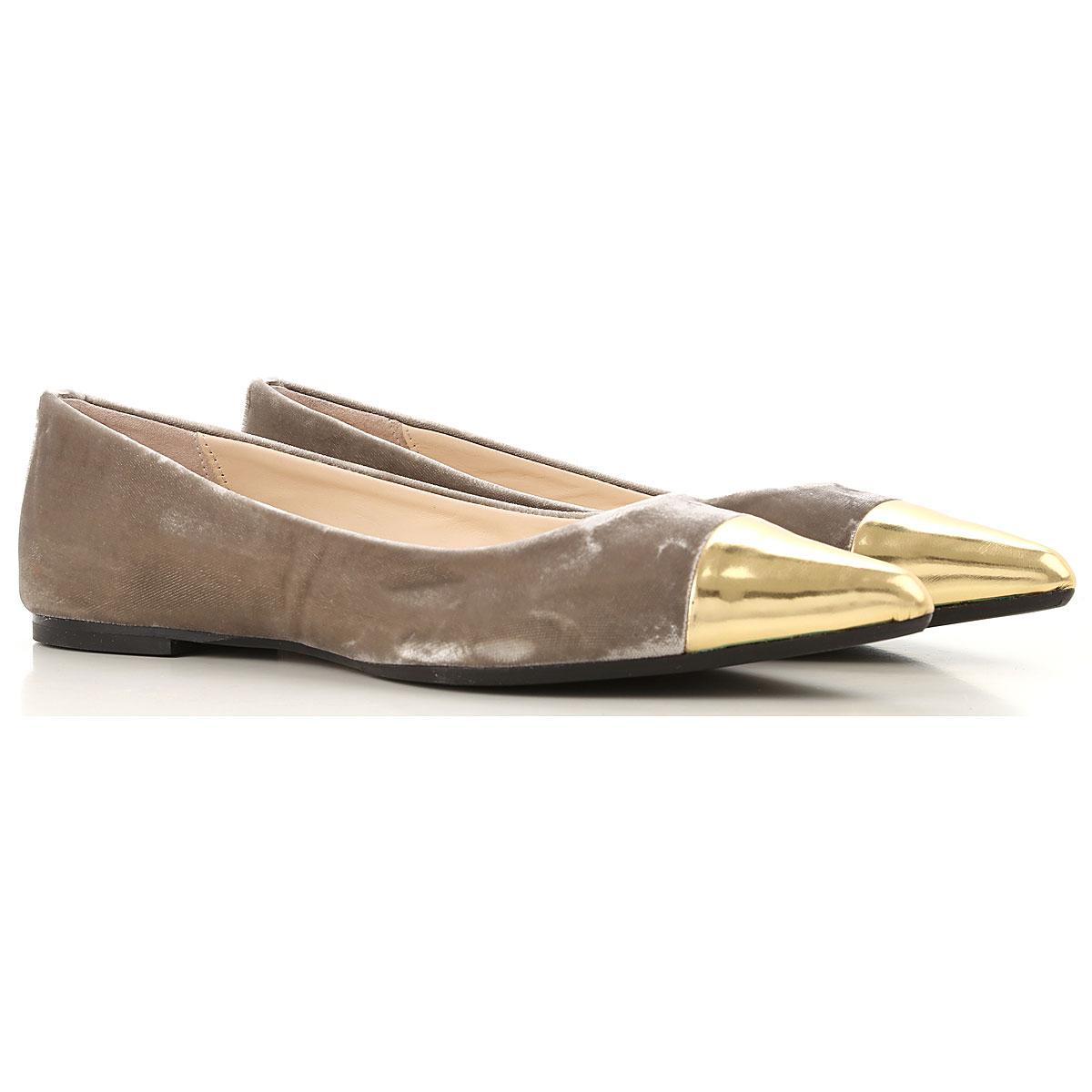 Image of Anna Baiguera Ballet Flats Ballerina Shoes for Women, Beaver, Velvet, 2017, 10 11 5 6 7 8