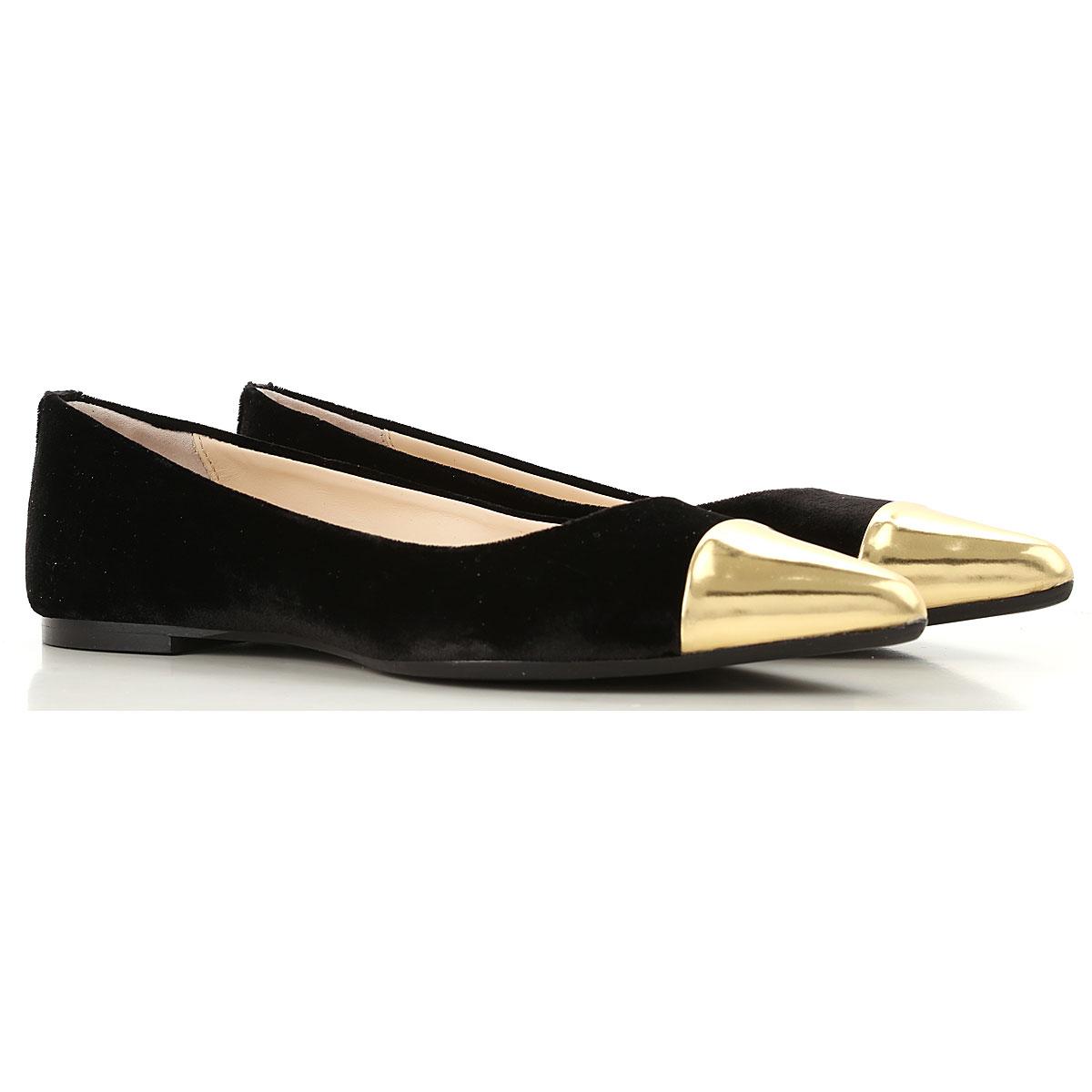 Image of Anna Baiguera Ballet Flats Ballerina Shoes for Women, Black, Velvet, 2017, 10 11 5 6 7 8