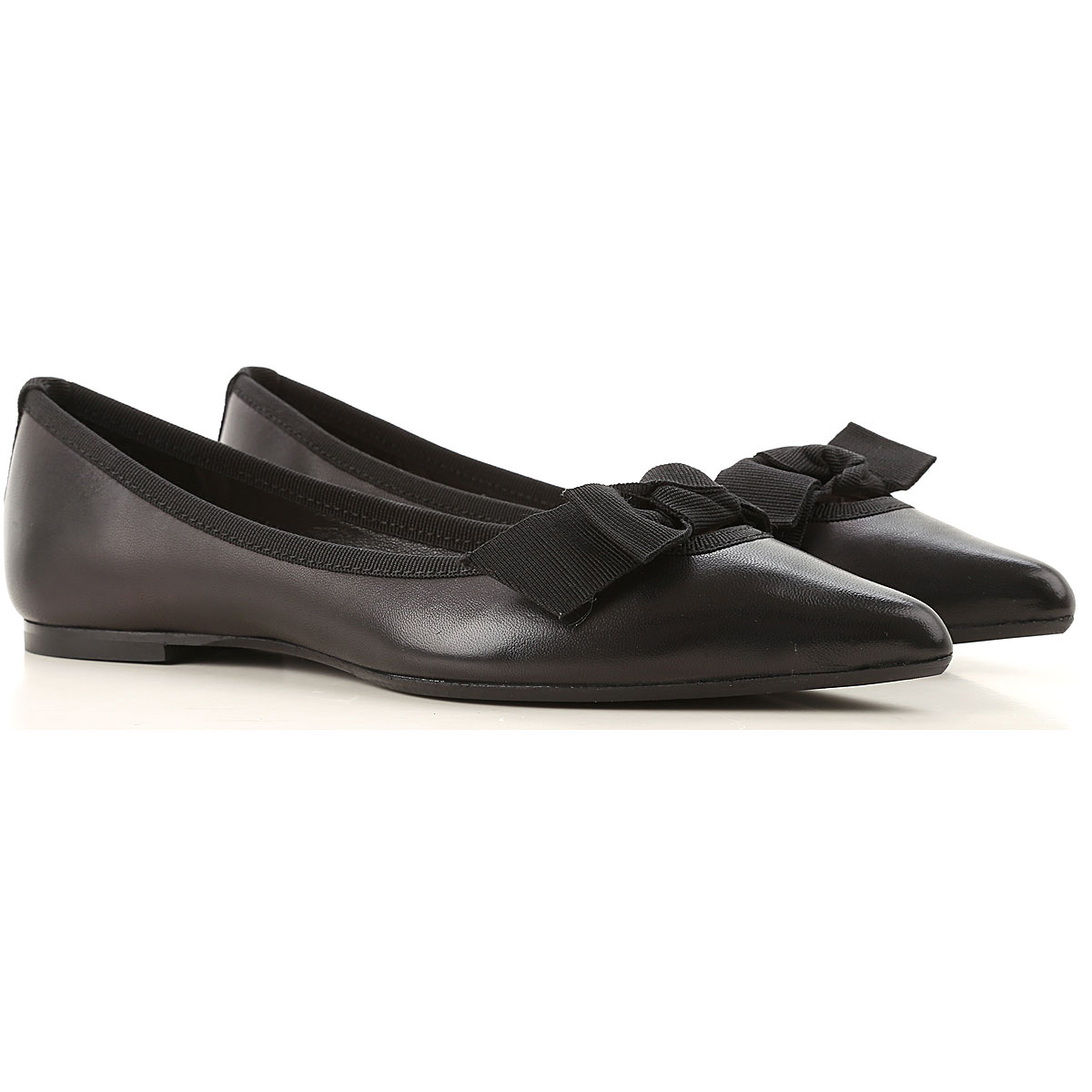 Anna Baiguera Ballet Flats Ballerina Shoes for Women On Sale, Black, Leather, 2019, 10 11 6 7 8 9