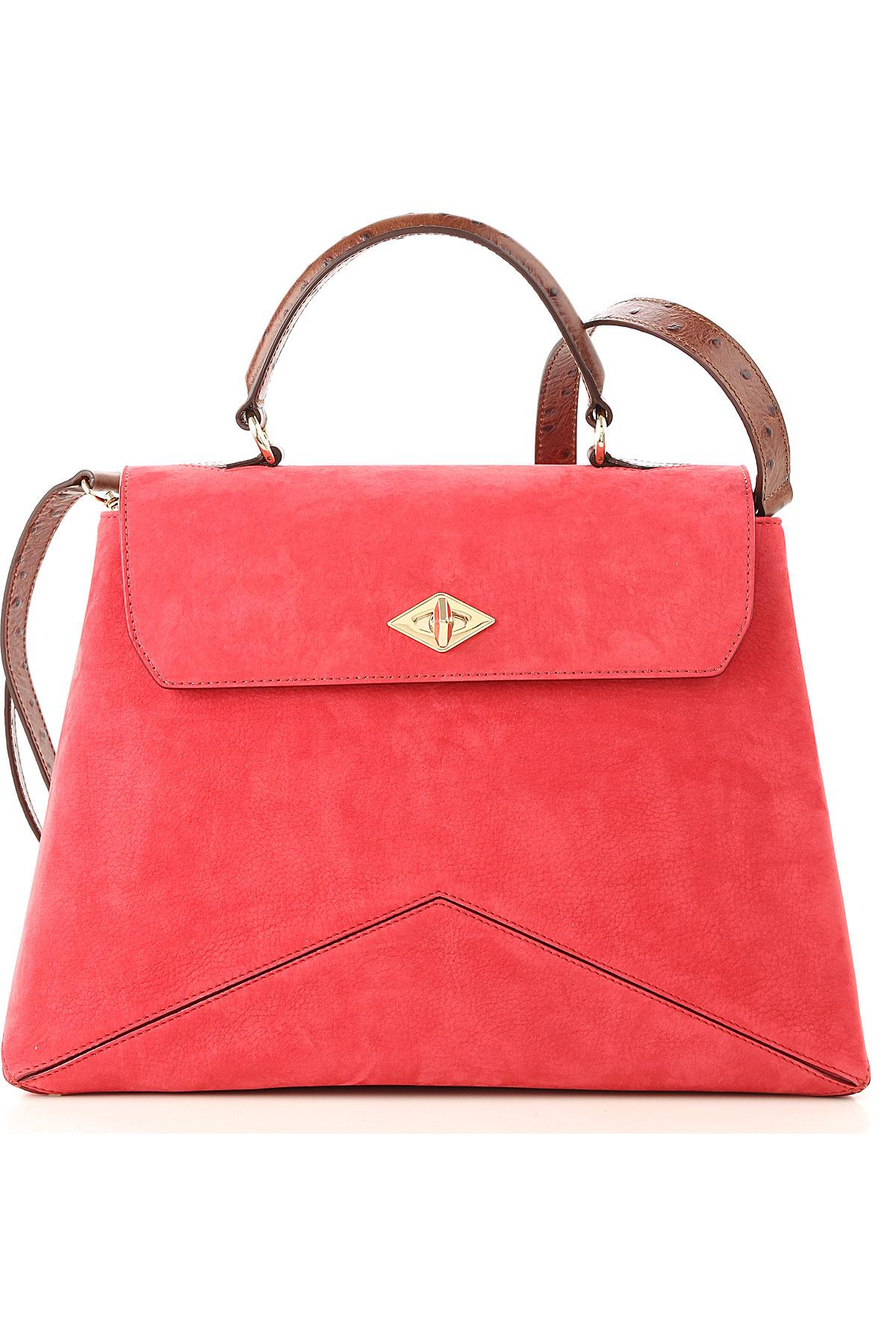 Image of Ballantyne Top Handle Handbag, Brilliant Fuchsia, suede, 2017