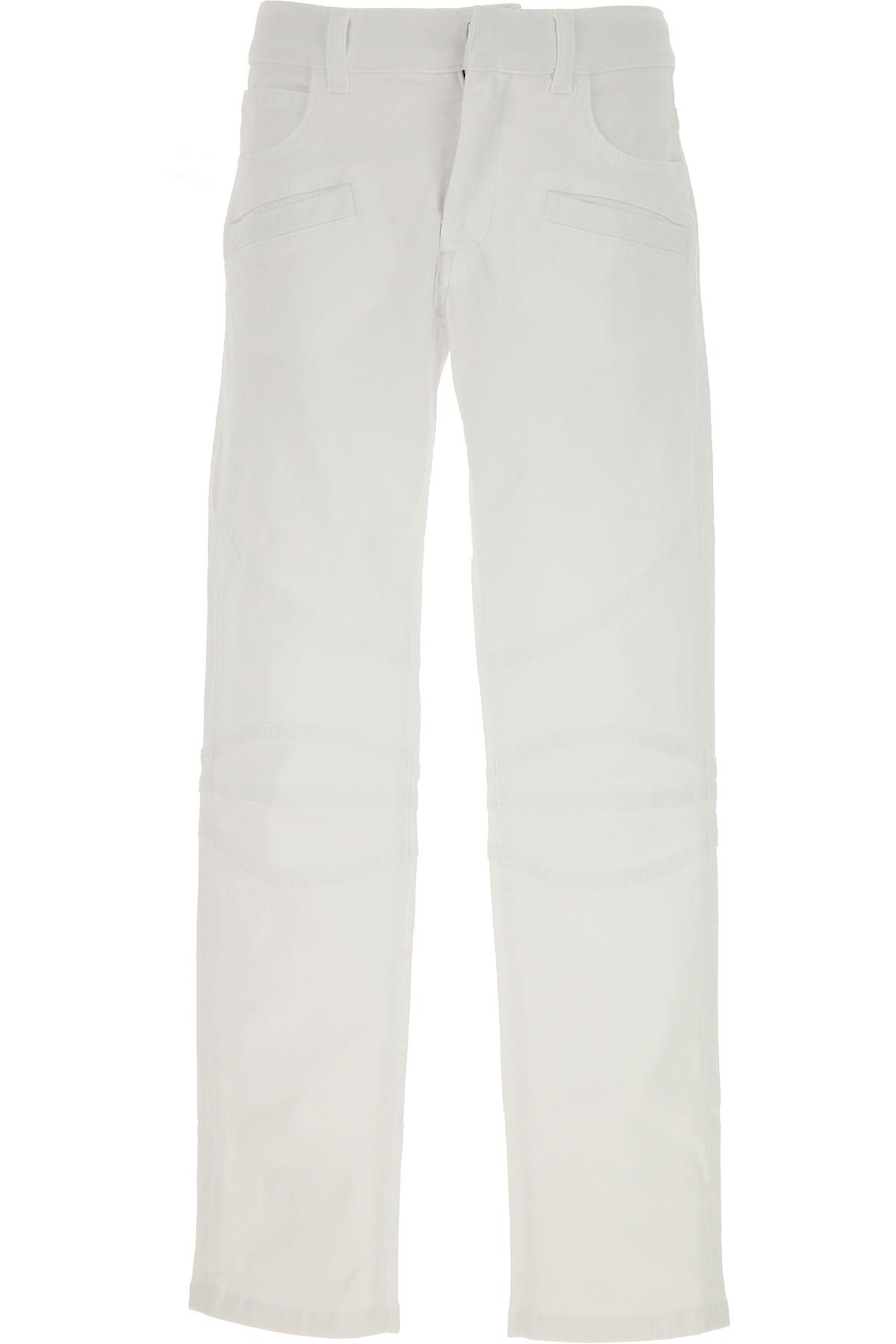 Balmain Kids Jeans for Boys, White, Cotton, 2017, 10Y 14Y 16Y 8Y