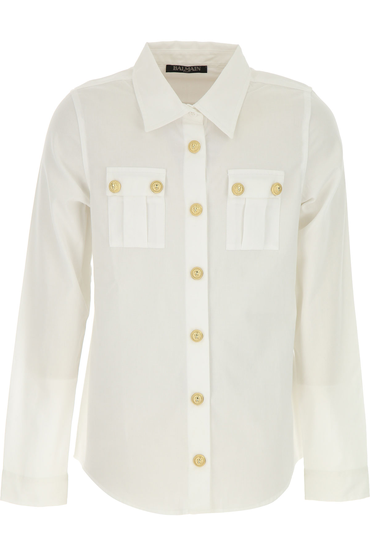 Image of Balmain Kids Shirts for Boys, White, Cotton, 2017, 10Y 14Y 8Y