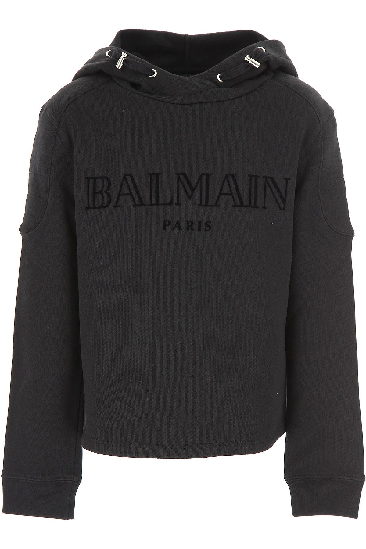Image of Balmain Kids Sweatshirts & Hoodies for Boys, Black, Cotton, 2017, 10Y 14Y 8Y