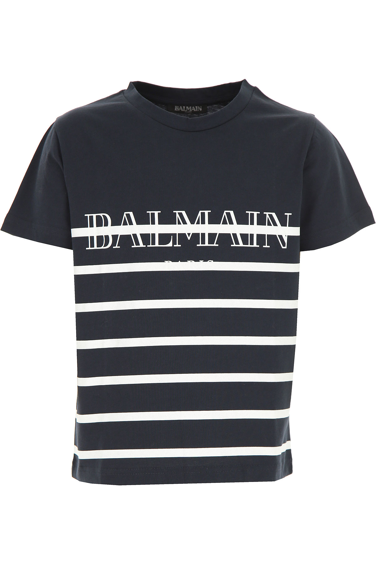 Image of Balmain Kids T-Shirt for Boys, Blue, Cotton, 2017, 10Y 14Y 8Y