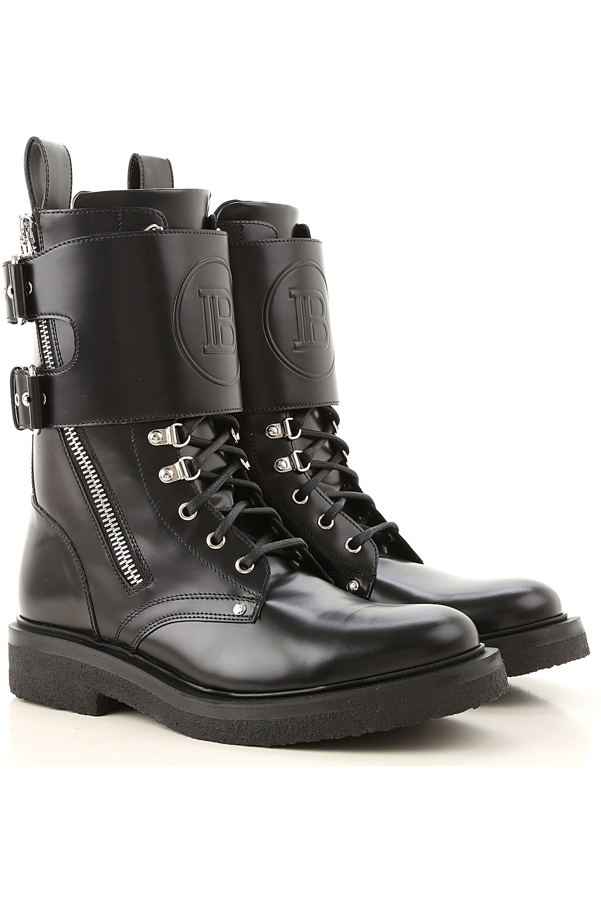 Balmain Boots for Men, Booties On Sale, Black, Leather, 2019, 7.5 8 9