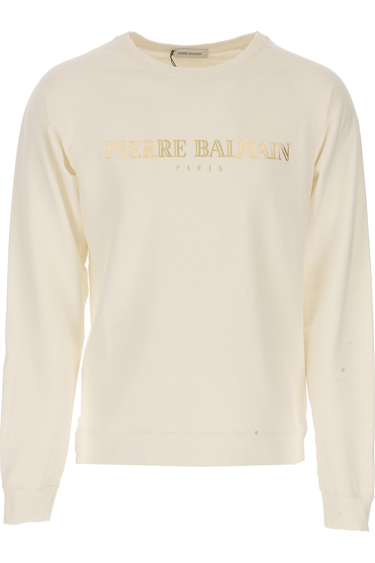 Balmain Sweatshirt for Men, White, Cotton, 2017, L M USA-450453