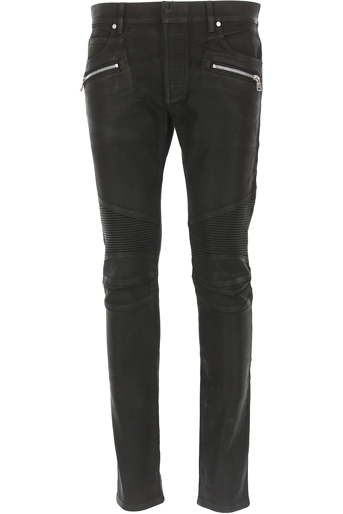 Balmain Jeans, Black, Cotton, 2017, 29 30 31 32 33 34