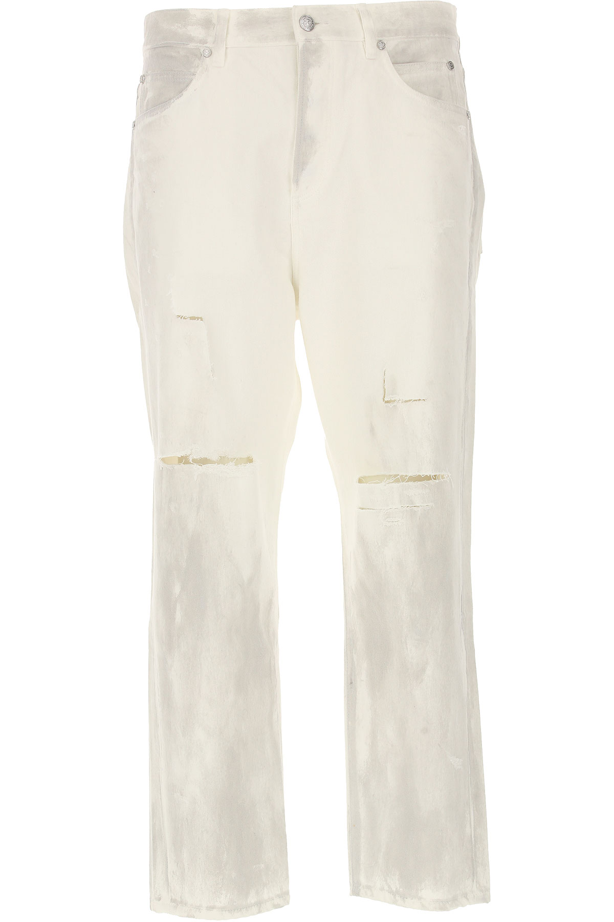 Balmain Jeans, White, Cotton, 2017, 29 30 31 32 33 34