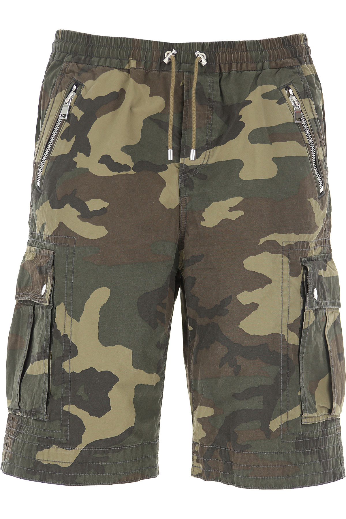 Balmain Shorts for Men On Sale, camouflage, Cotton, 2019, 32 34