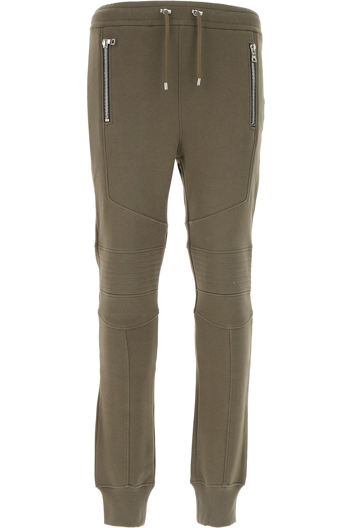 Image of Balmain Sweatpants, Military Green, Cotton, 2017, L M S