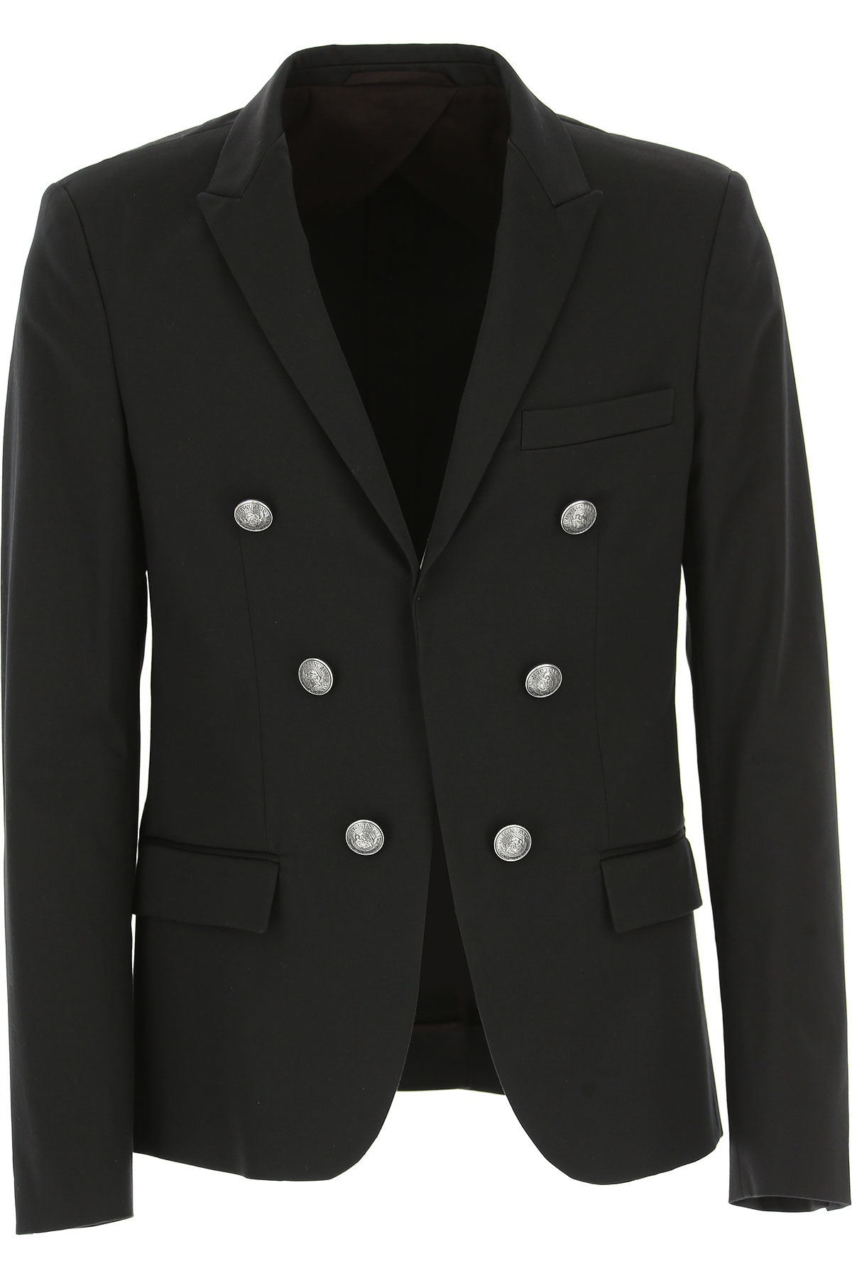 Image of Balmain Blazer for Men, Sport Coat, Black, Cotton, 2017, L M XL