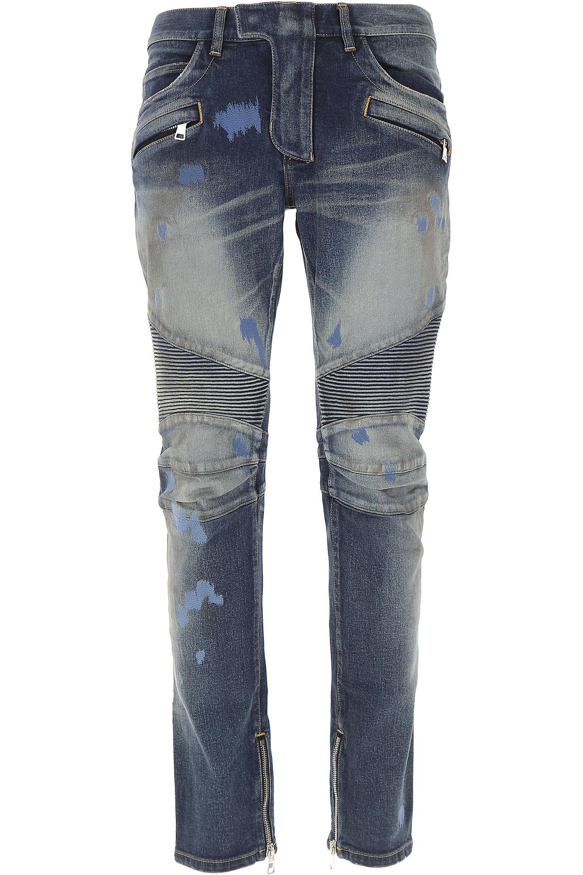 Balmain Jeans, Denim, Cotton, 2017, 32 34 36 USA-476616