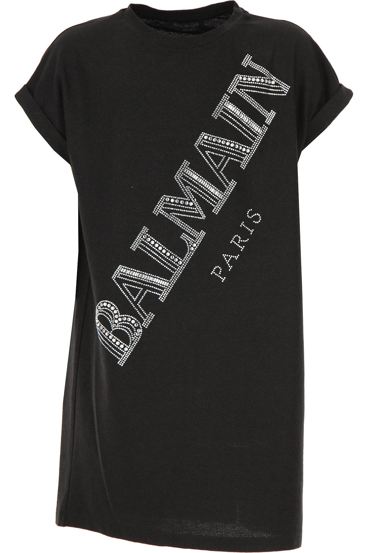Balmain Girls Dress On Sale, Black, Viscose, 2019, 10Y 12Y 14Y 16Y 8Y