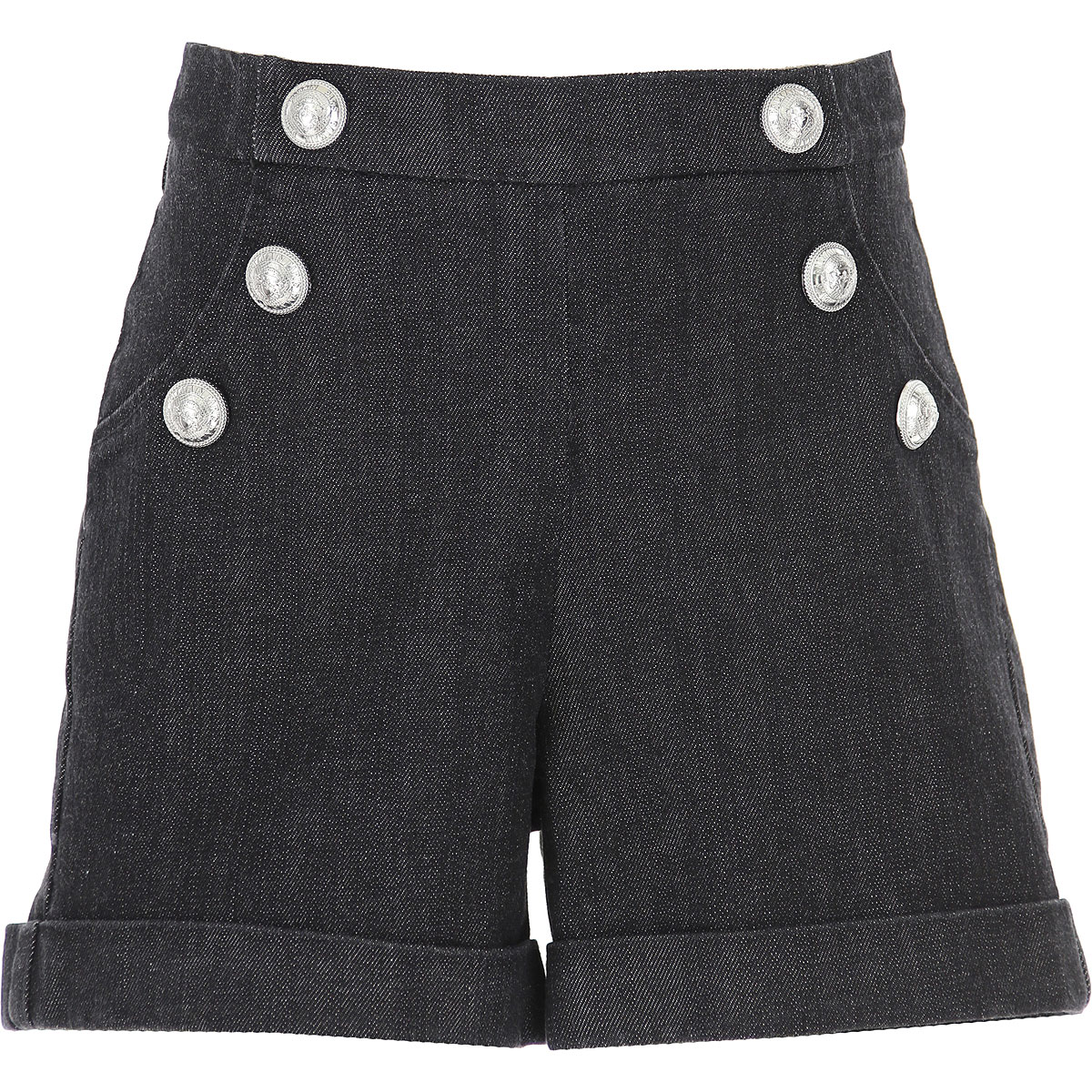 Balmain Kids Shorts for Girls On Sale, Blue Denim, Cotton, 2019, 10Y 8Y