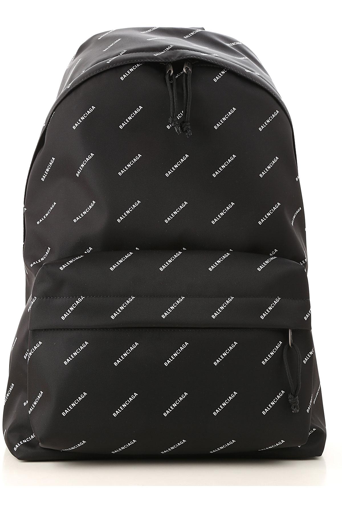 Image of Balenciaga Backpack for Men, Black, Nylon, 2017