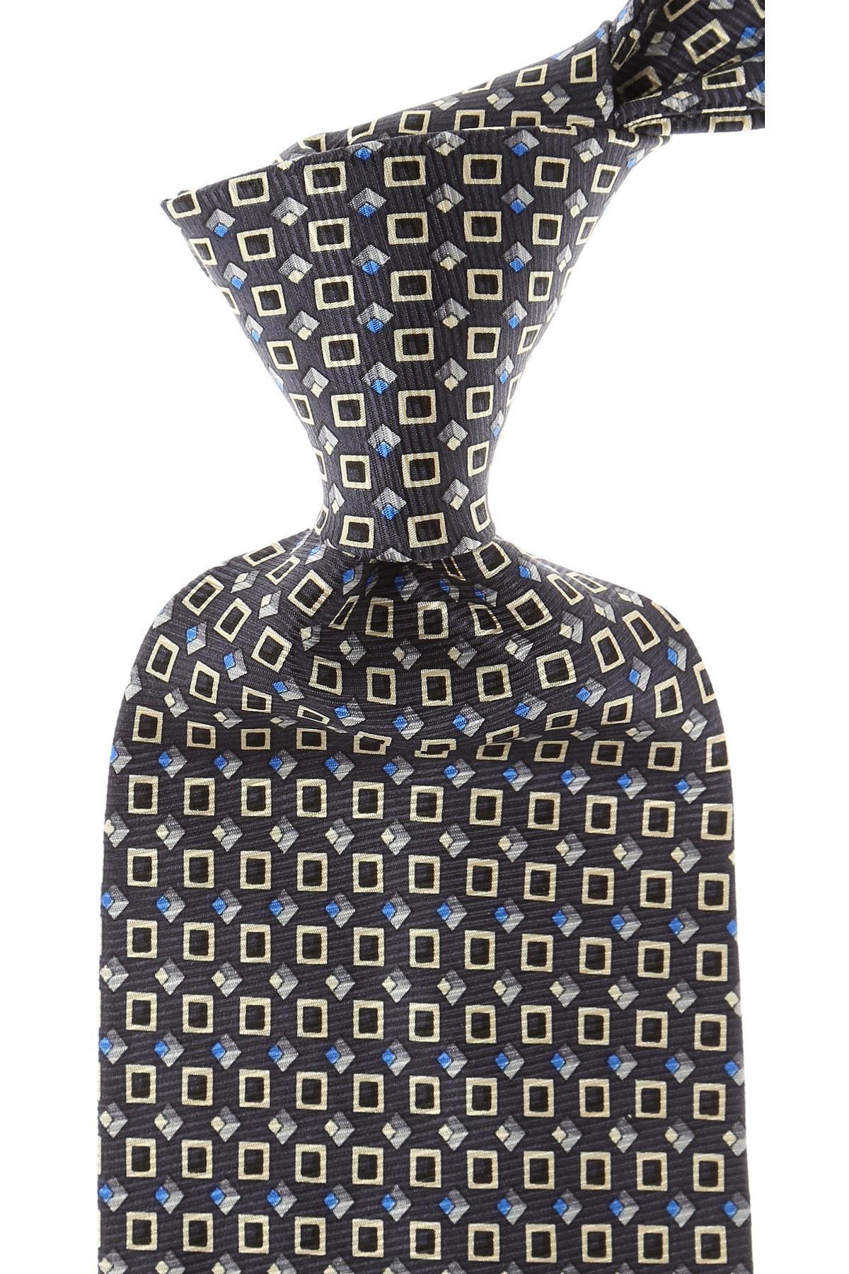 Balmain Cravates Pas cher en Soldes, Bleu nuit, Soie, 2017