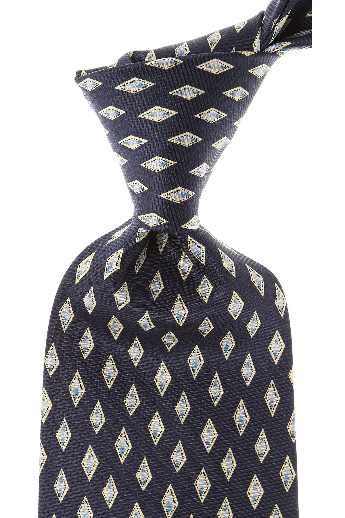 Balmain Cravates Pas cher en Soldes, Bleu marine, Soie, 2019