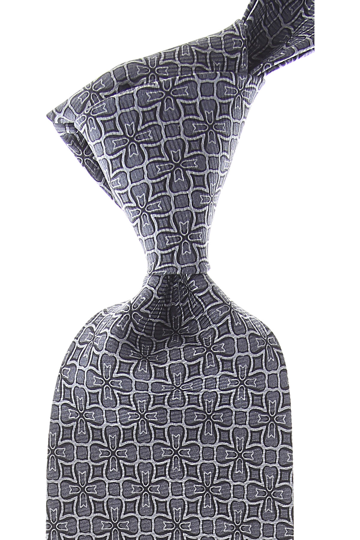 Balmain Ties On Sale, Dark Ash Grey, Silk, 2019