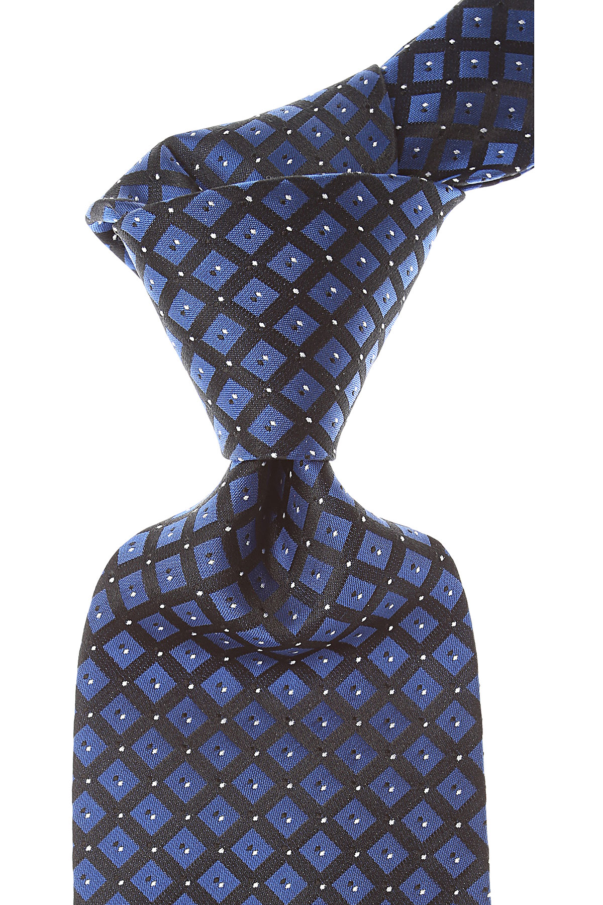 Balmain Ties On Sale, Dark Cobalt Blue, Silk, 2019