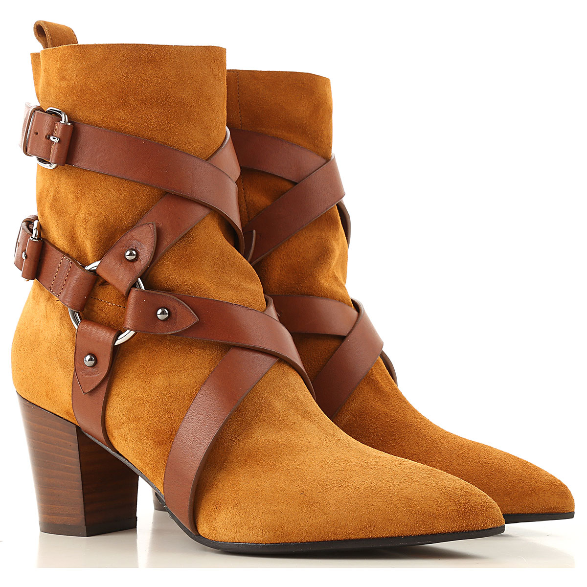 Balmain Boots for Women, Booties On Sale in Outlet, Leather Brown, Suede leather, 2019, 7 8 9