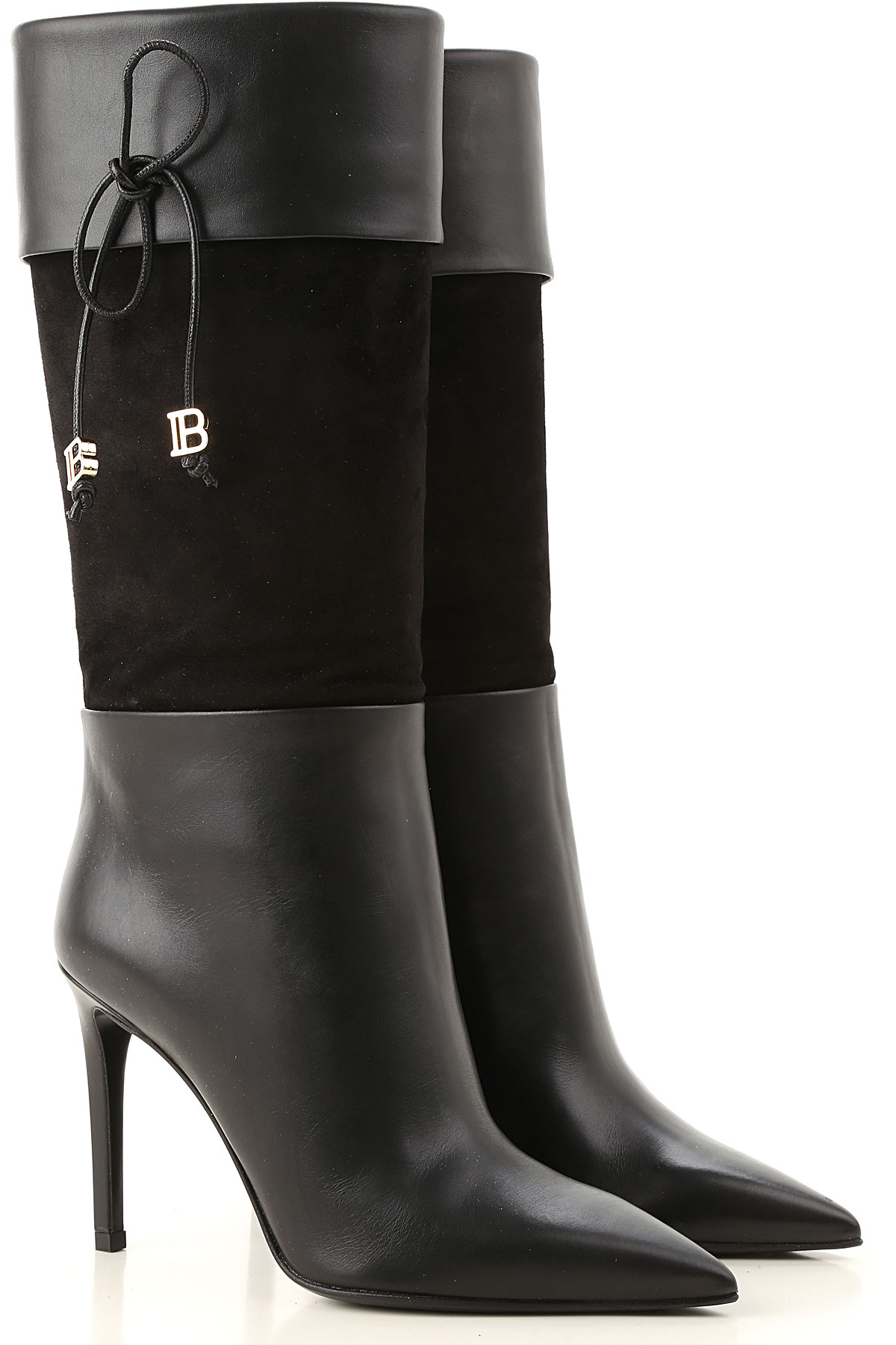 Balmain Boots for Women, Booties On Sale, Black, Leather, 2019, 10 6 6.5 7 8 8.5 9