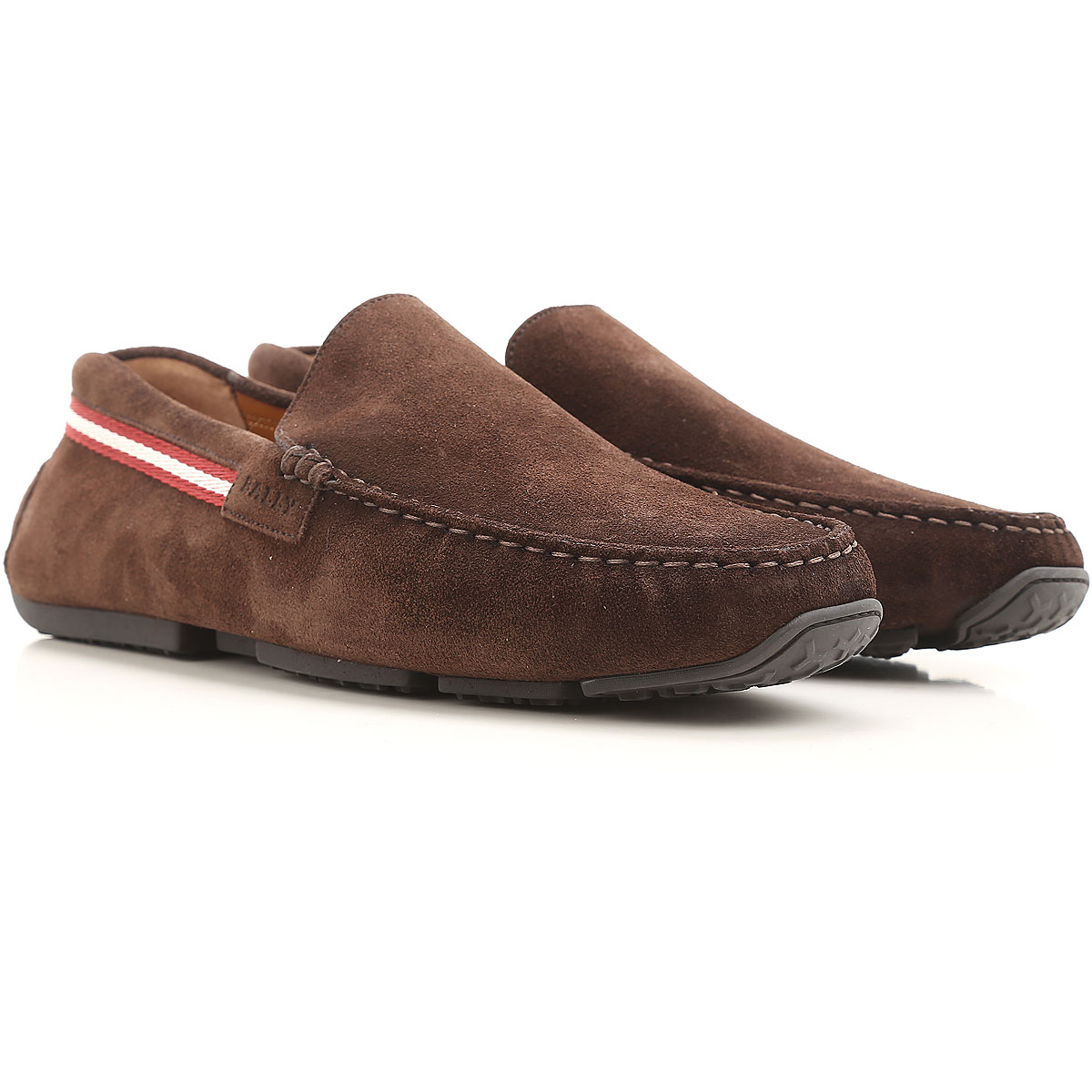 Image of Bally Driver Loafer Shoes for Men On Sale in Outlet, Coffee, Suede leather, 2017, 6 6.5 8