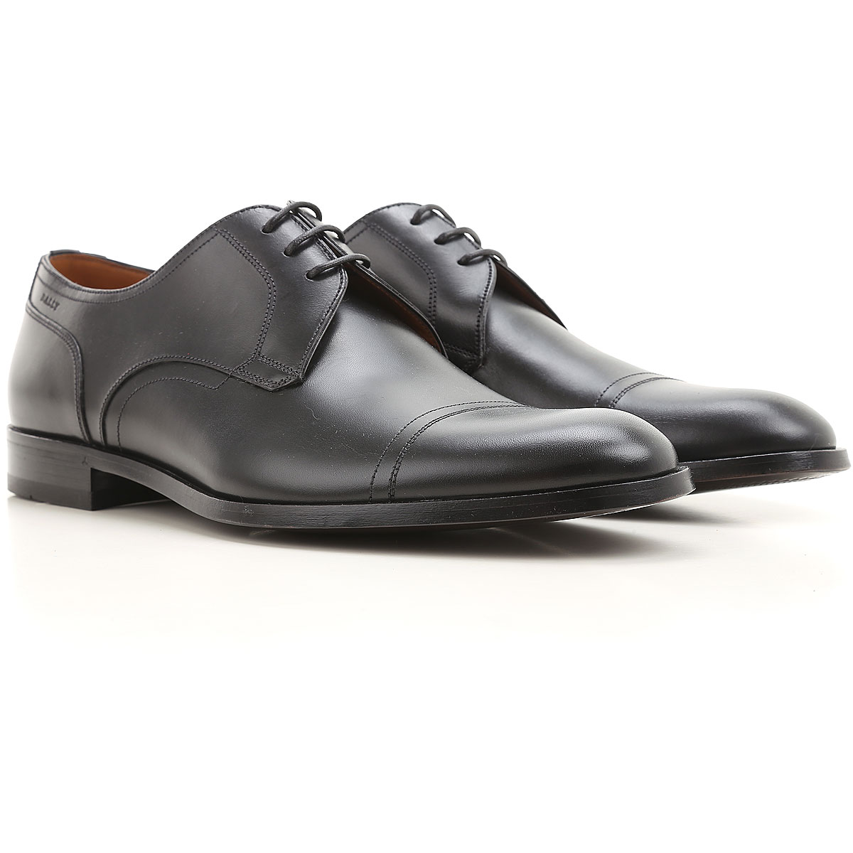 Image of Bally Lace Up Shoes for Men Oxfords, Derbies and Brogues On Sale in Outlet, Black, Leather, 2017, 9