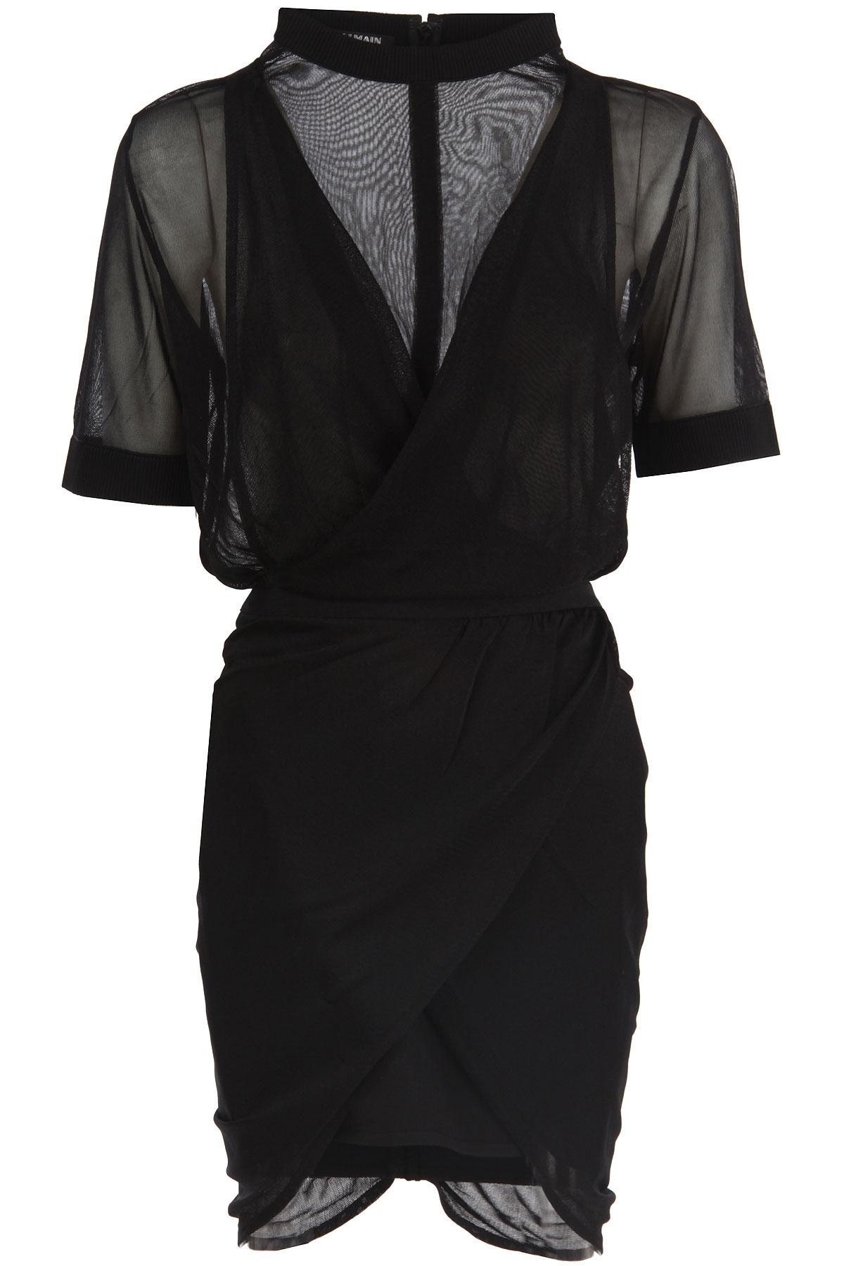 Balmain Robe Femme Pas cher en Soldes, Noir, Viscose, 2017, 38 40 XXS
