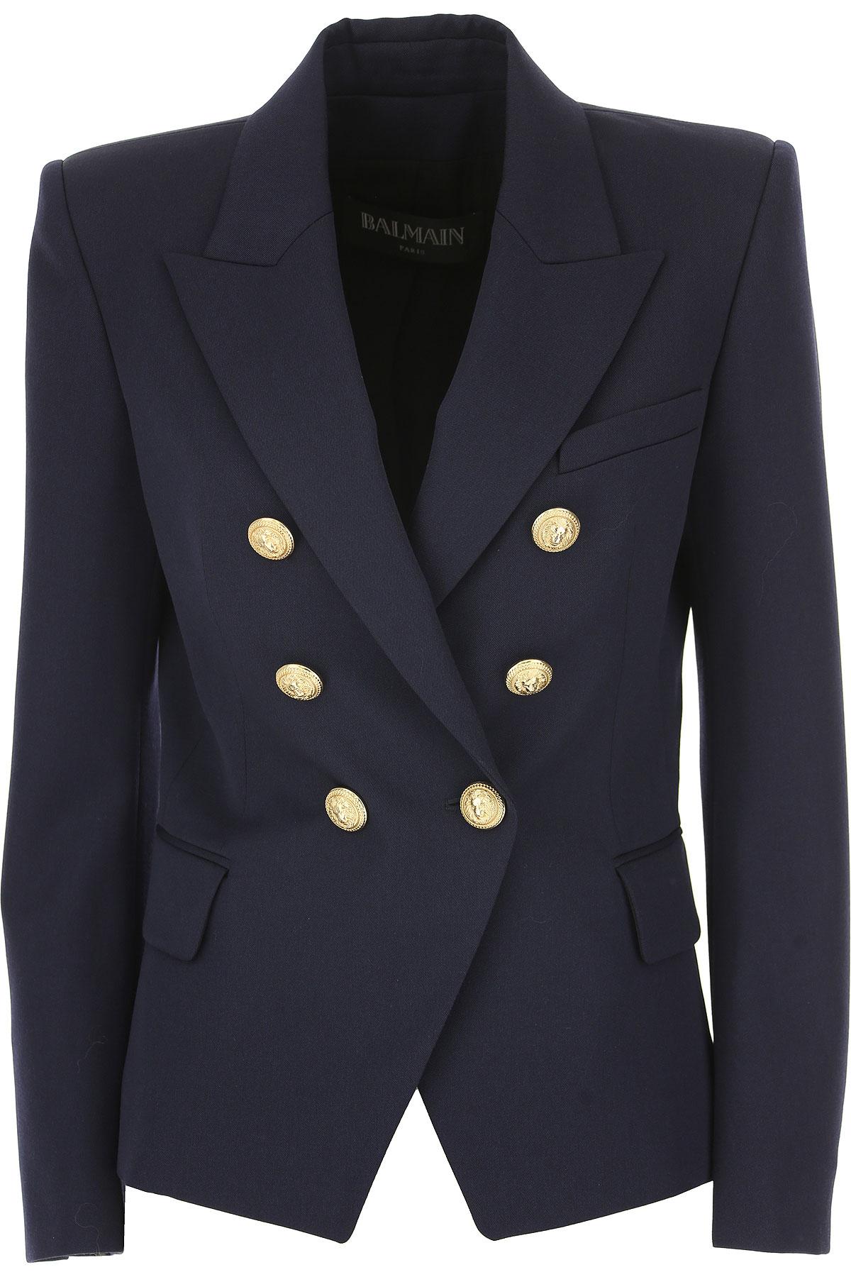 Image of Balmain Blazer for Women, navy, Virgin wool, 2017, 2 4