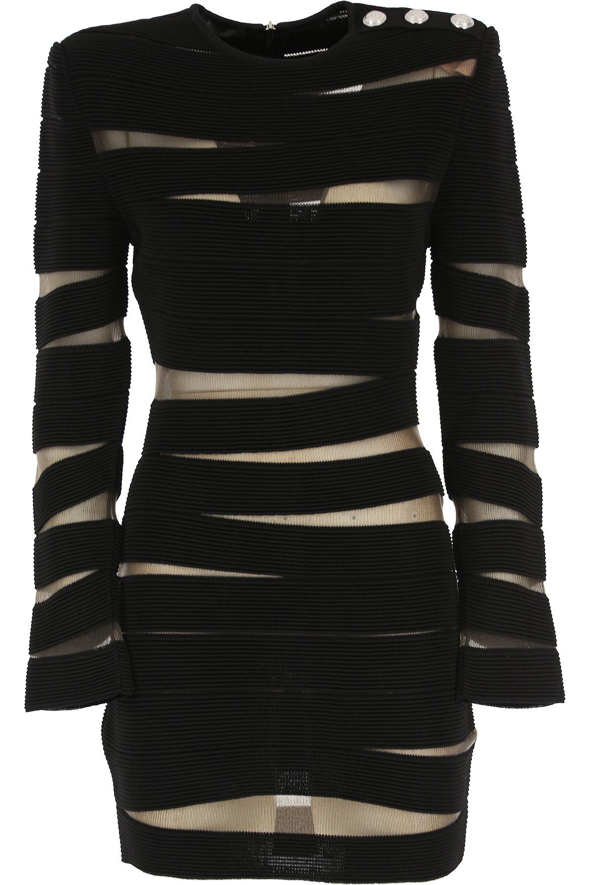 Balmain Dress for Women, Evening Cocktail Party On Sale, Black, Viscose, 2019, XXS (IT 36) US 2 - I 38 - GB 6 - F 34