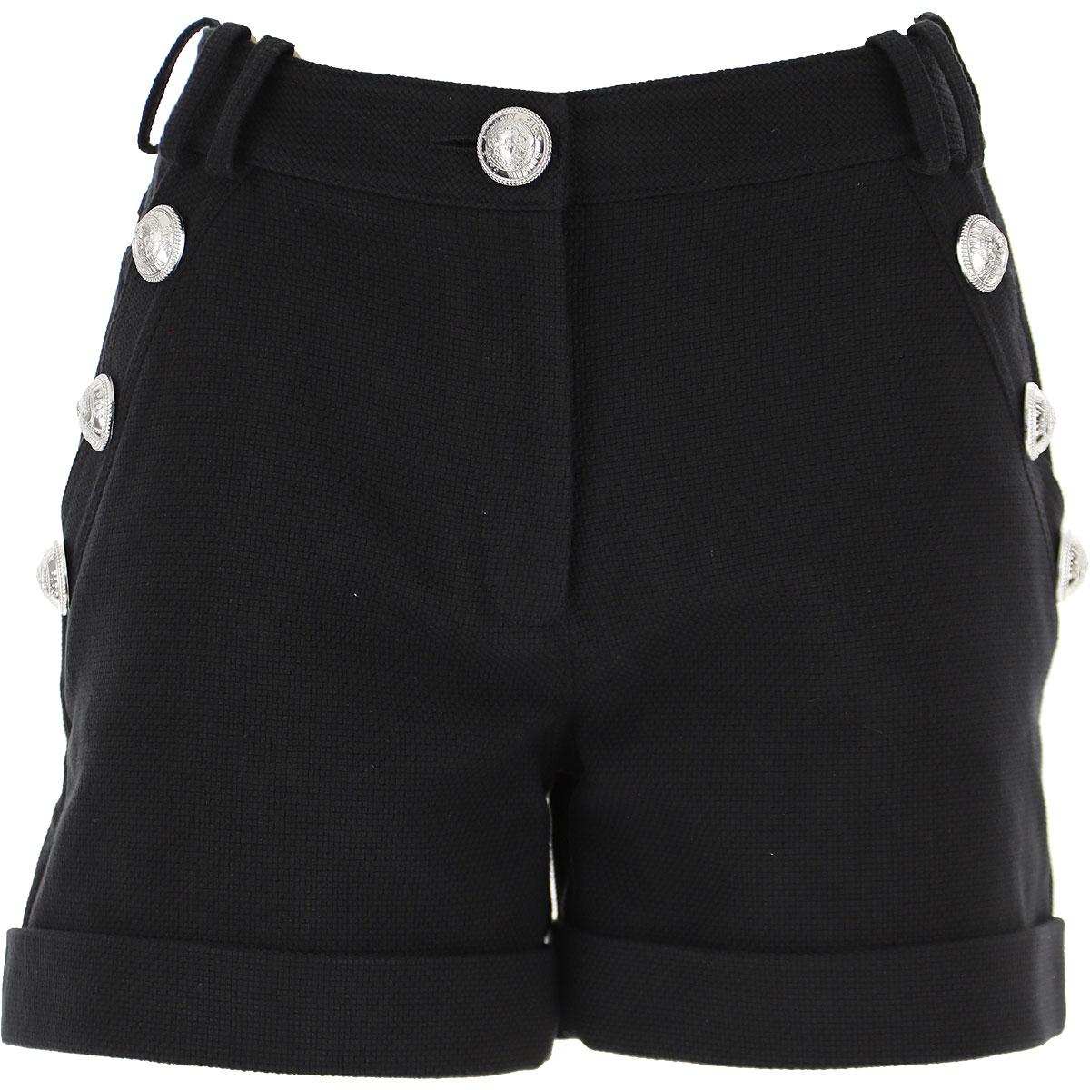 Balmain Shorts for Women On Sale, Black, Viscose, 2019, 24 26
