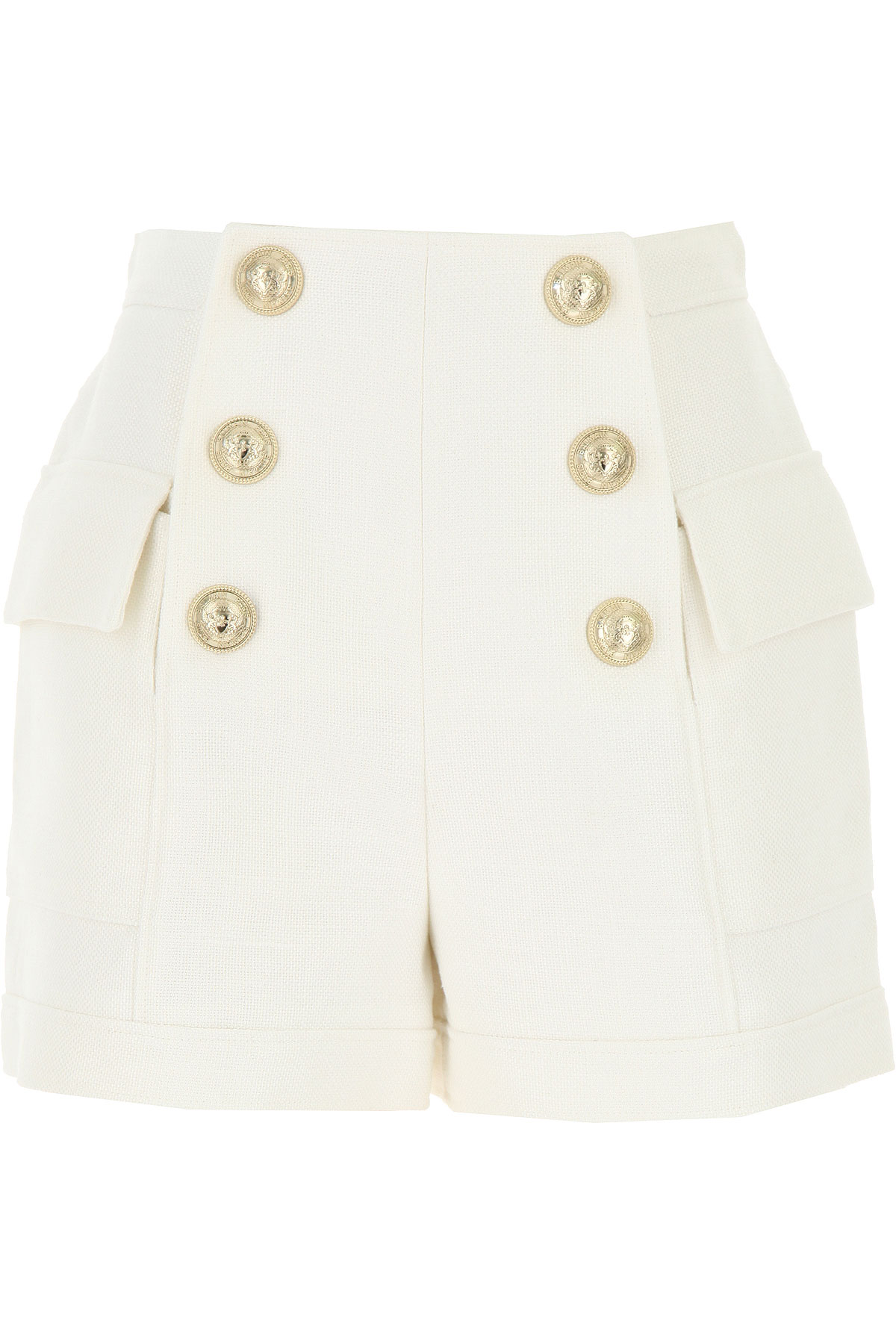 Balmain Shorts for Women On Sale, White, Viscose, 2019, 24 34