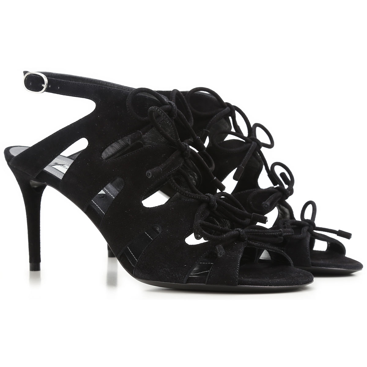 Image of Balenciaga Sandals for Women On Sale in Outlet, Black, Suede leather, 2017, 10 6 7 8