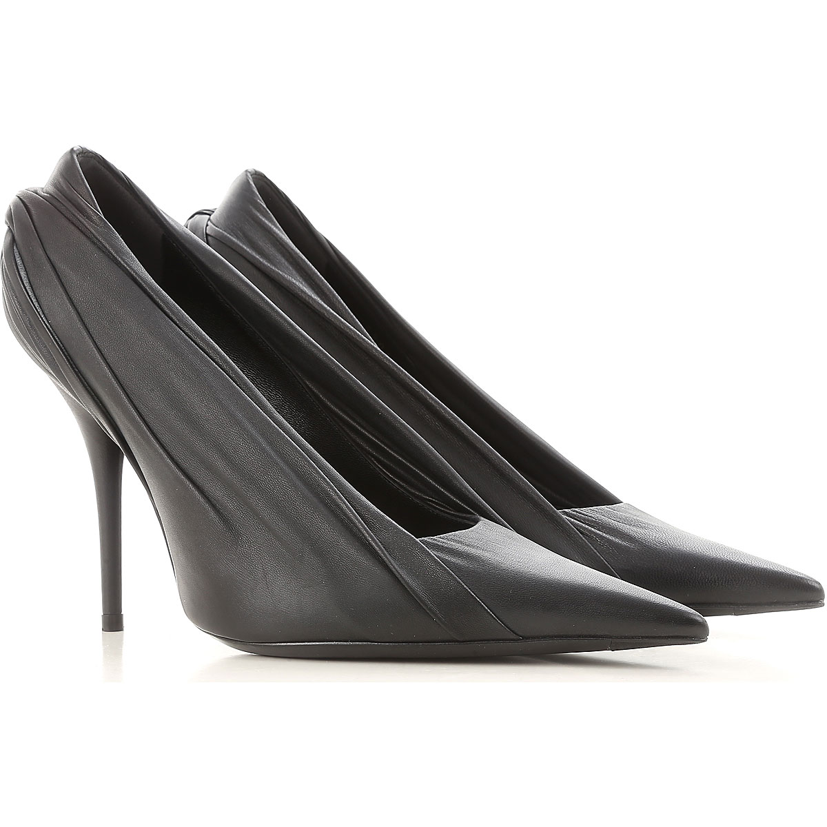 Image of Balenciaga Pumps & High Heels for Women On Sale, Black, Leather, 2017, 5.5 6.5 7