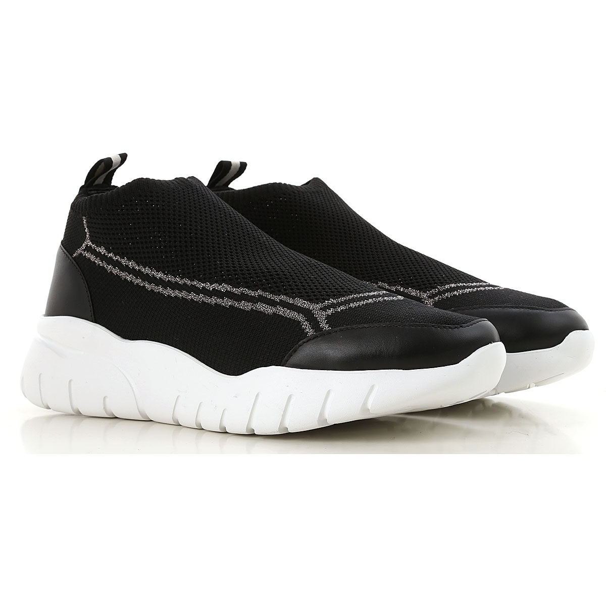 Image of Bally Slip on Sneakers for Women, Black, Knitted, 2017, EUR 36 - UK 3 - USA 5.5 EUR 37 - UK 4 - USA 6.5 EUR 39 - UK 6 - USA 8.5 EUR 40 - UK 7 - USA 9.5