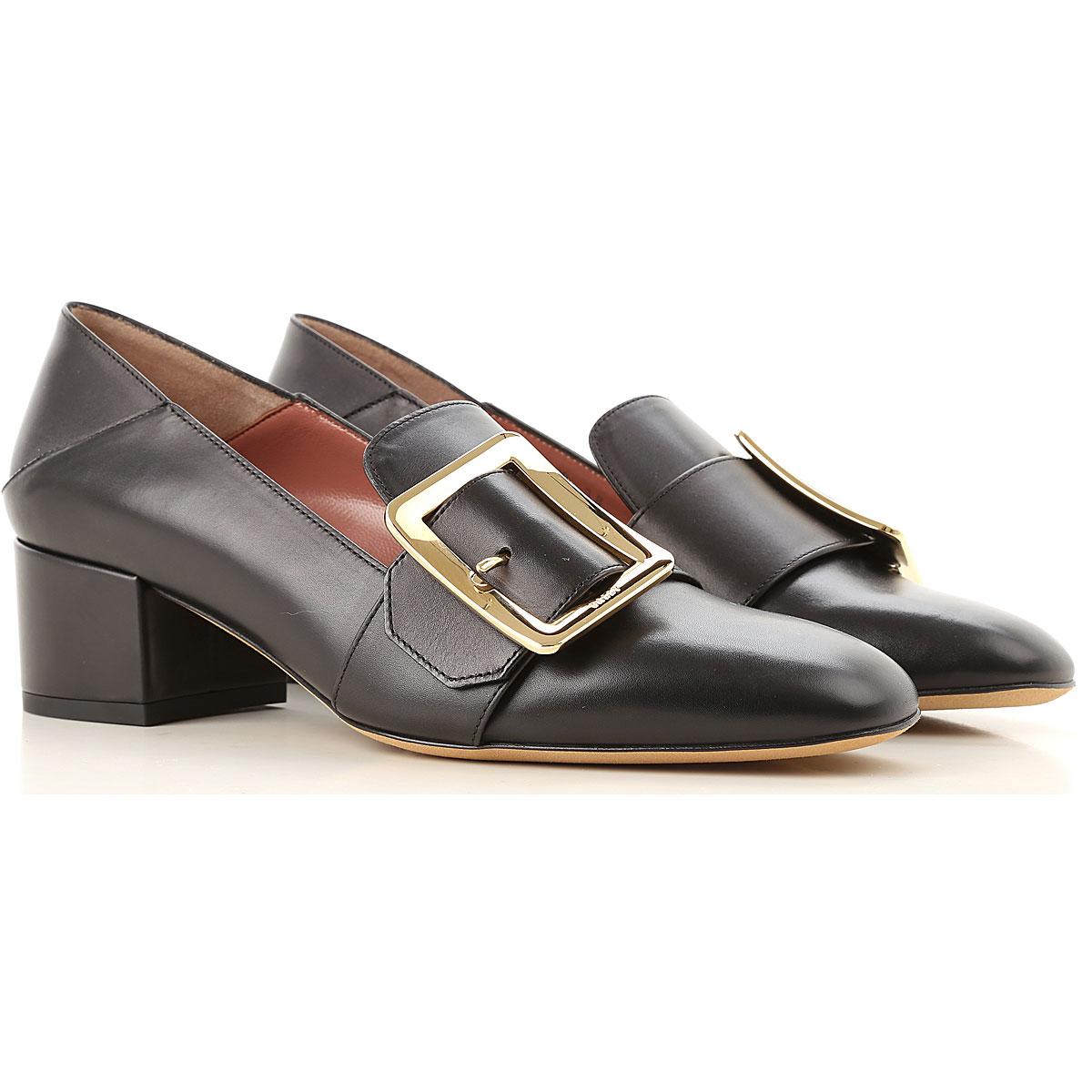 Image of Bally Pumps & High Heels for Women, Black, Leather, 2017, EUR 36 - UK 3 - USA 5.5 EUR 37 - UK 4 - USA 6.5 EUR 38 - UK 5 - USA 7.5 EUR 39 - UK 6 - USA 8.5 EUR 40 - UK 7 - USA 9.5