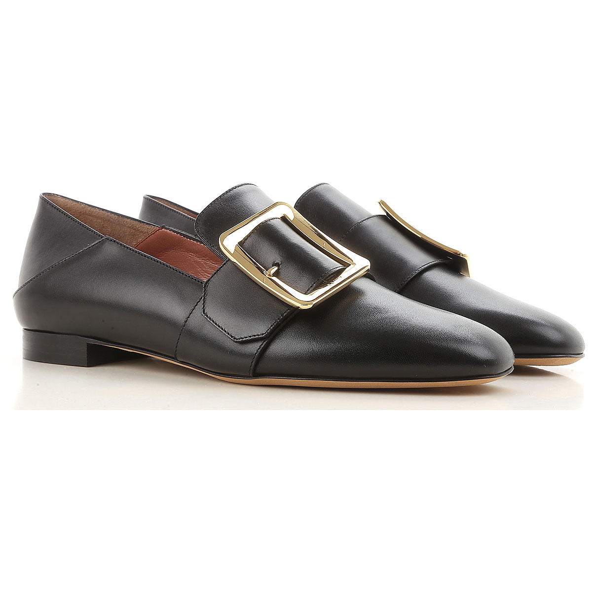 Image of Bally Loafers for Women, Black, Leather, 2017, 5