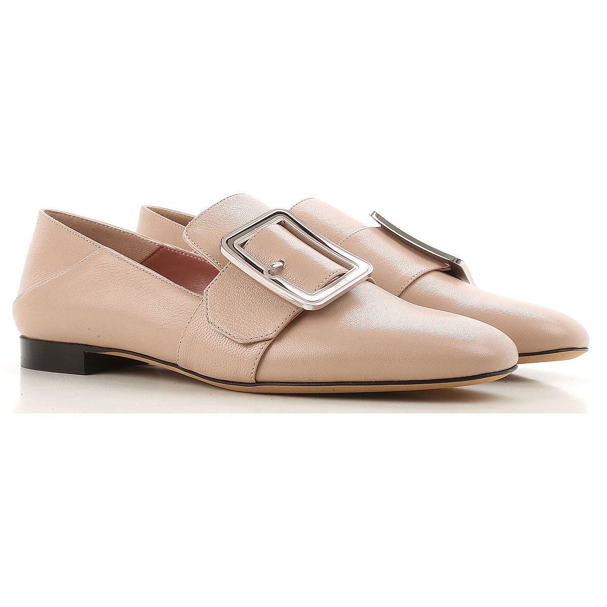 Image of Bally Loafers for Women, Nude, Leather, 2017, 8.5 9