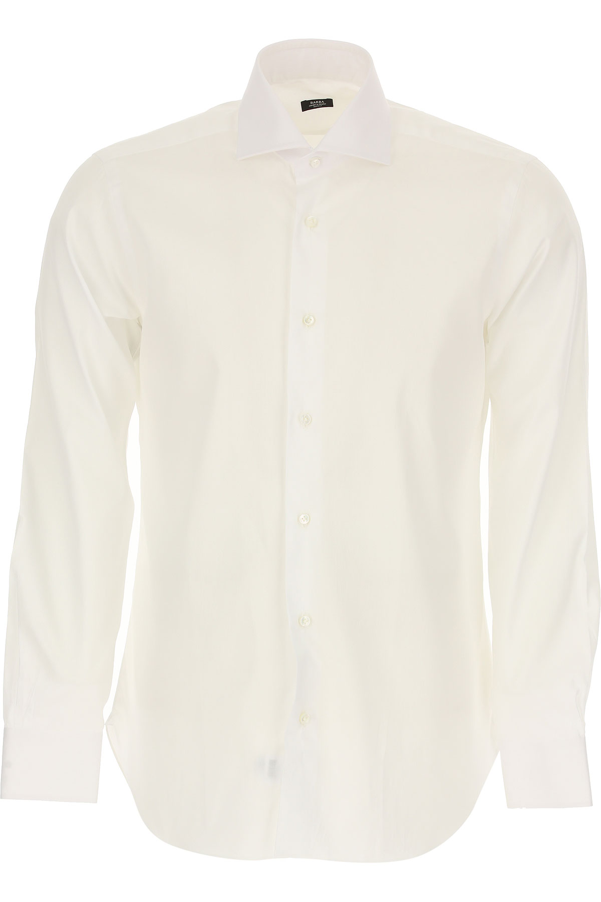 Barba Shirt for Men On Sale, White, Cotton, 2019, 15 15.75 16.5 17