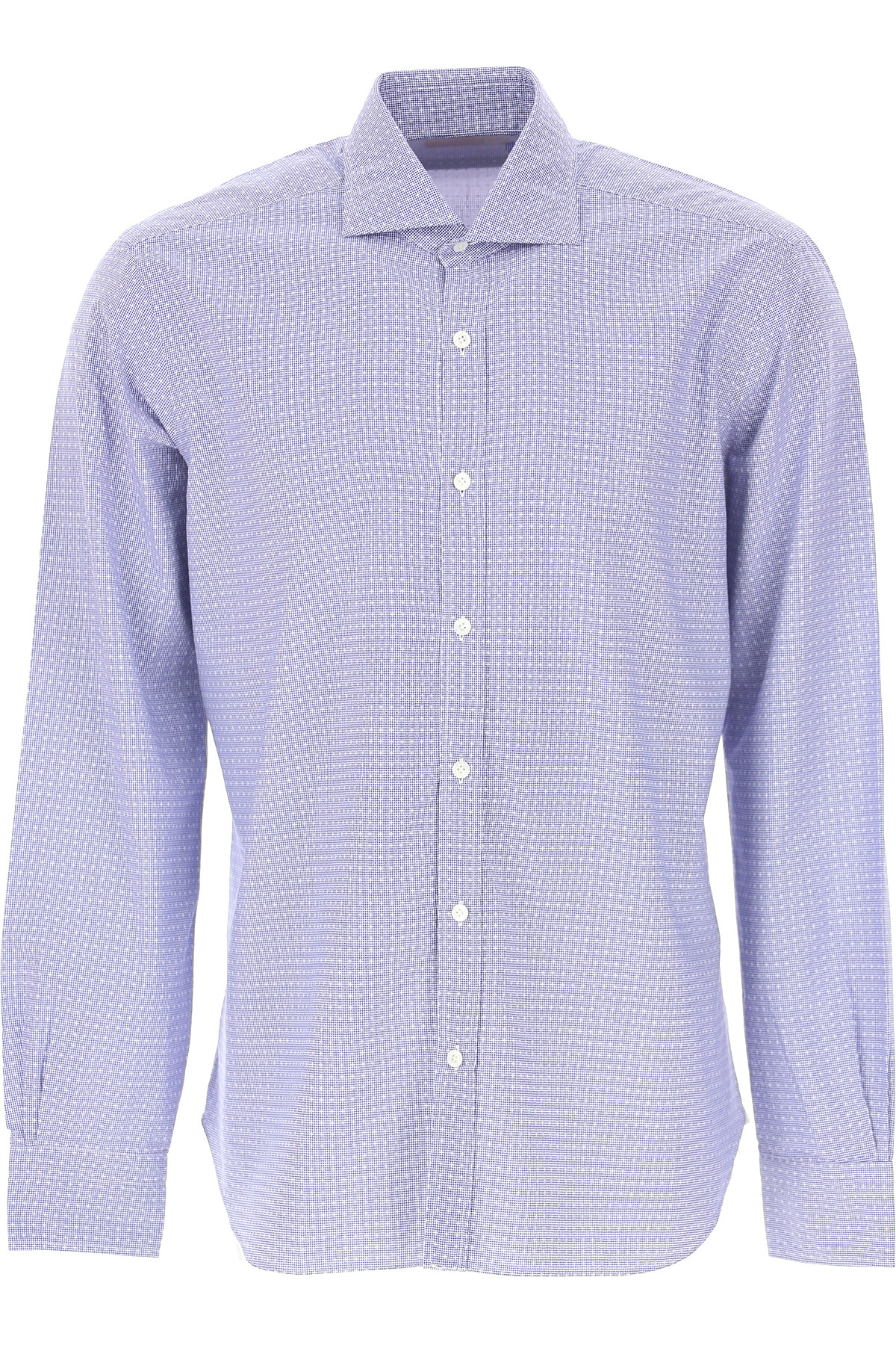 Barba Shirt for Men On Sale in Outlet, Light Blue, Cotton, 2019, 15 15.5 16.5