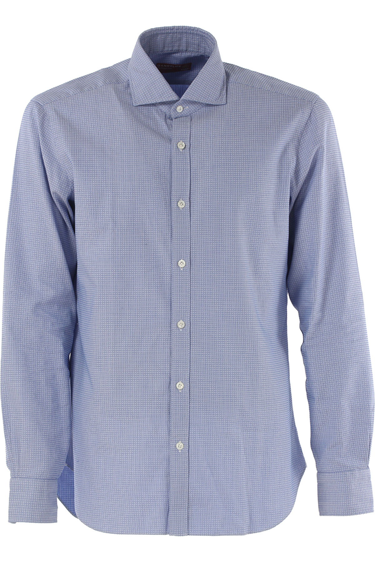 Barba Shirt for Men On Sale in Outlet, Dandy Life, Light Blue, Cotton, 2017, 15.5 17