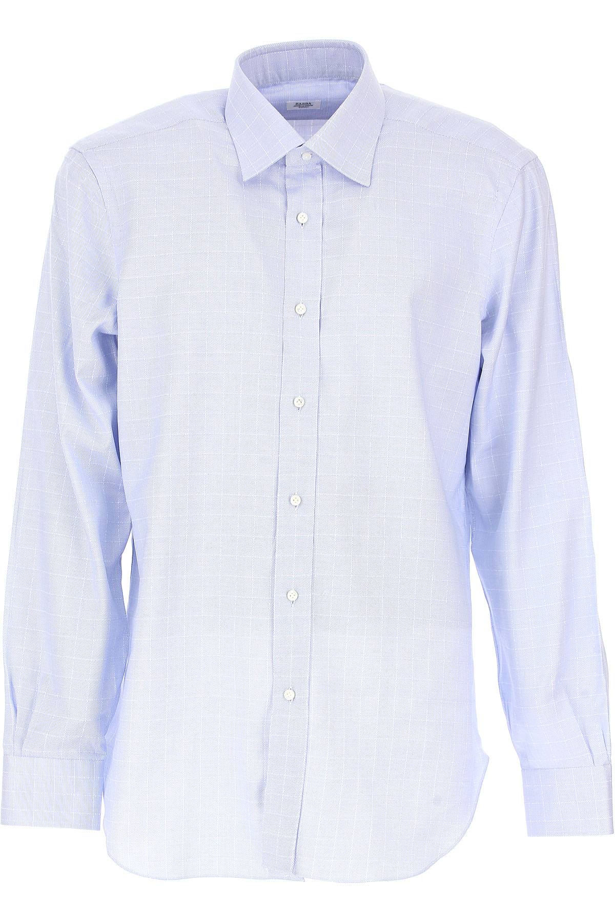Image of Barba Shirt for Men, Blue, Cotton, 2017, 15.75 16 16.5