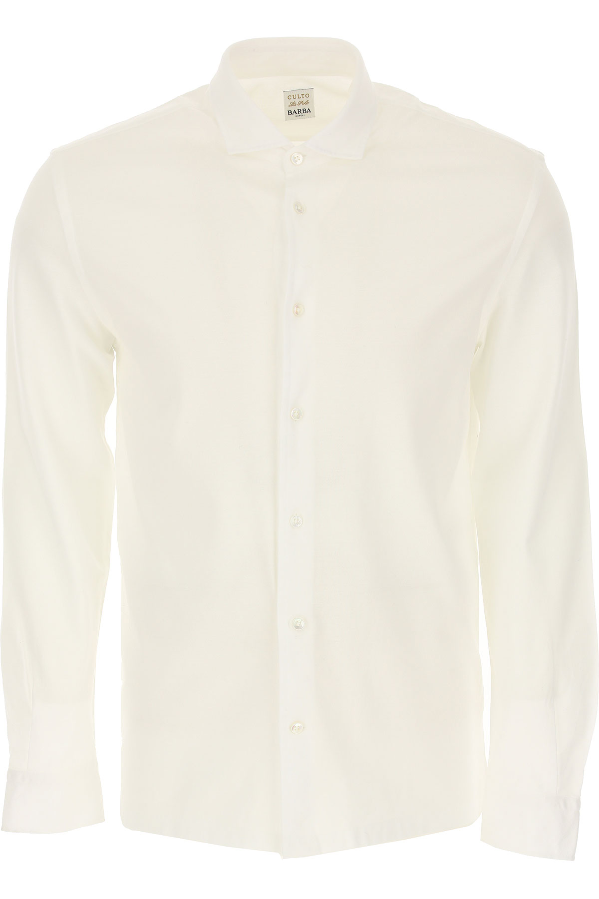 Barba Shirt for Men On Sale in Outlet, White, Cotton, 2019, 15.75 16.5