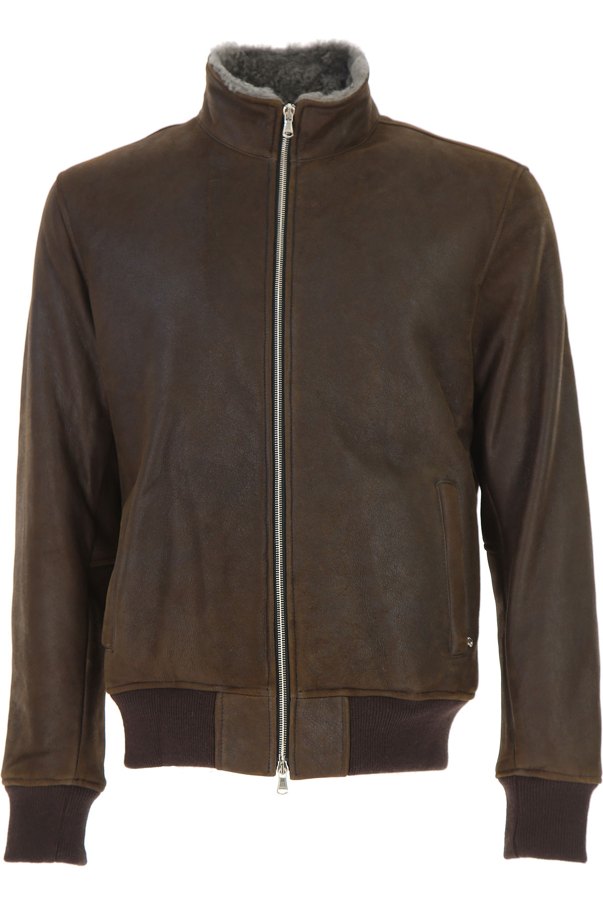 Image of Barba Leather Jacket for Men, Brown, Leather, 2017, L M XL