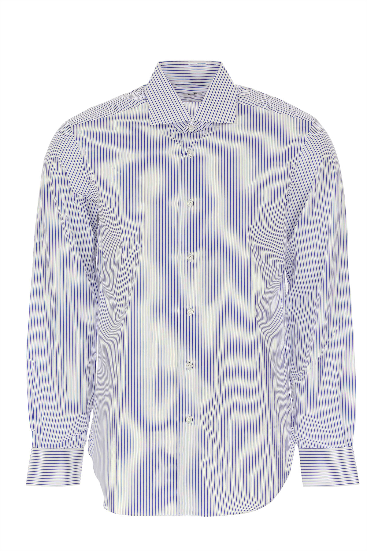 Barba Shirt for Men On Sale in Outlet, Light Blue, Cotton, 2019, 17 17.5
